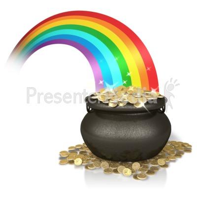 Shiny Rainbow Gold PowerPoint Clip Art