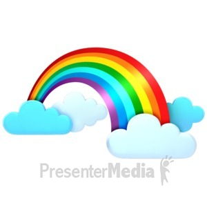 ID# 11292 - Rainbow In The Clouds - Presentation Clipart