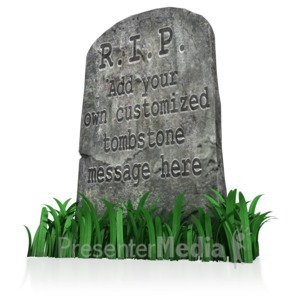 ID# 11293 - Tombstone Message - Presentation Clipart