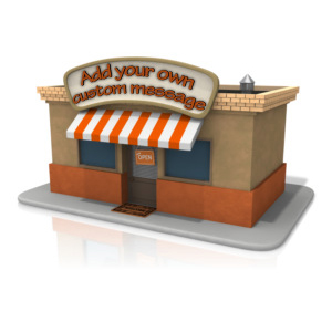 ID# 11304 - Open Store Front Text - Presentation Clipart