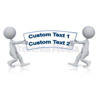 Tug Of War Text PowerPoint Clip Art
