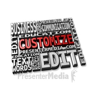 ID# 11308 - Mosaic Block Text - Presentation Clipart