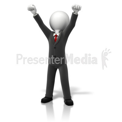 Business Celebration Arms Up PowerPoint Clip Art