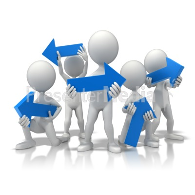 Group Opposite Directions PowerPoint Clip Art