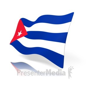 ID# 11356 - Cuba Flag - Presentation Clipart