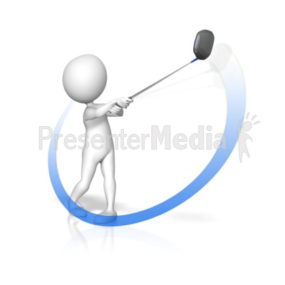 Golf Swing Swoop PowerPoint Clip Art