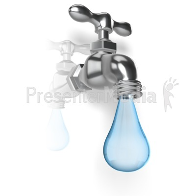 water faucet drop