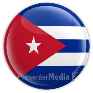 ID# 11429 - Cuba Button - Presentation Clipart