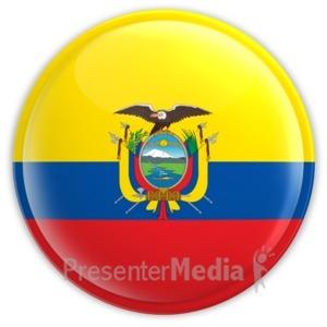 ID# 11430 - Ecuador Button - Presentation Clipart