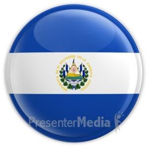ID# 11431 - El Salvador Button - Presentation Clipart