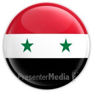 ID# 11435 - Syria Button - Presentation Clipart