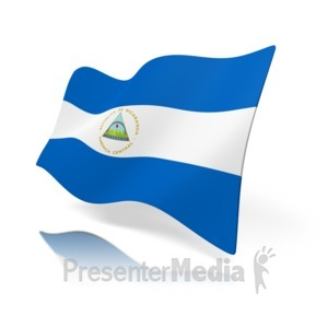 ID# 11441 - Nicaragua Flag - Presentation Clipart