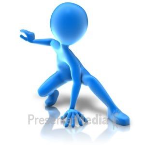 ID# 11457 - Hero Crouching Pose - Presentation Clipart