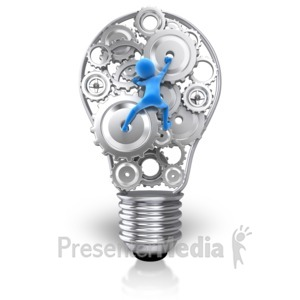 ID# 11465 - Reaching For That Idea - Presentation Clipart