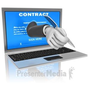ID# 11470 - Computer Digital Signature - Presentation Clipart