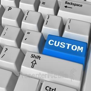 ID# 11473 - Keyboard Custom Enter - Presentation Clipart