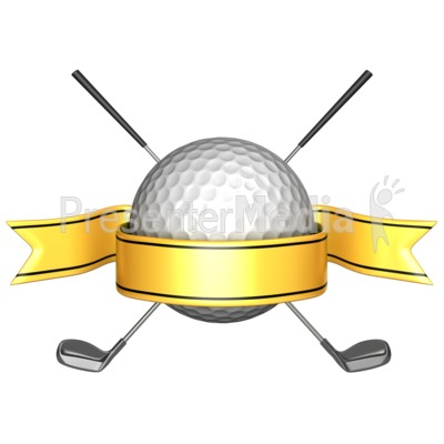 Real golf clubs crossed