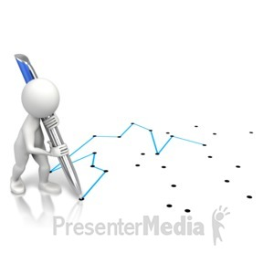 ID# 11515 - Connect The Dots - Presentation Clipart