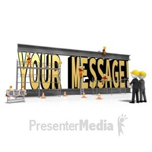 ID# 11533 - Constructing Custom Text - Presentation Clipart