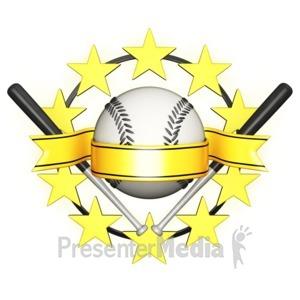 ID# 11536 - Baseball Star Banner - Presentation Clipart