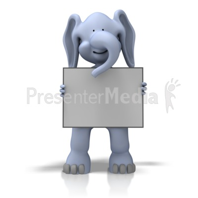 Elephant With Sign - Presentation Clipart - Great Clipart ...