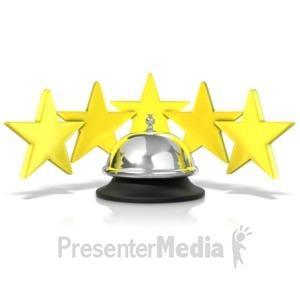 ID# 11549 - Five Star Service Bell - Presentation Clipart