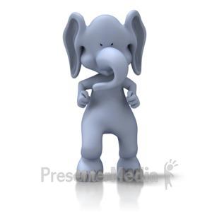ID# 11555 - Tough Elephant - Presentation Clipart