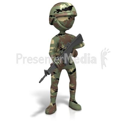 Military figure camo gun 3d figures great clipart for military figure camo gun presentation clipart toneelgroepblik Choice Image