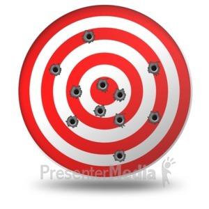 ID# 11570 - Target Gun Shots - Presentation Clipart