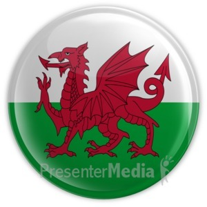 ID# 11590 - Wales Button - Presentation Clipart