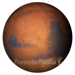 ID# 11597 - The Planet Mars - Presentation Clipart