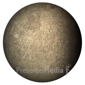 ID# 11598 - The Planet Mercury - Presentation Clipart