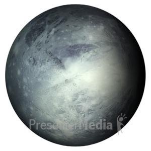 ID# 11601 - The Planet Pluto - Presentation Clipart