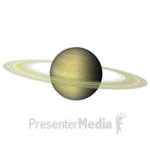 ID# 11604 - The Planet Saturn - Presentation Clipart