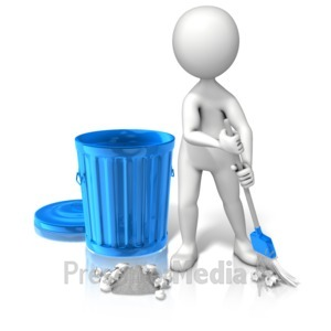 ID# 11605 - Pick Up Garbage - Presentation Clipart