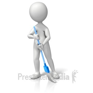 ID# 11612 - Sweeping The Floor - Presentation Clipart