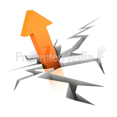 Crack With Arrow PowerPoint Clip Art