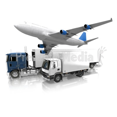 Transportation By Land And Air PowerPoint Clip Art