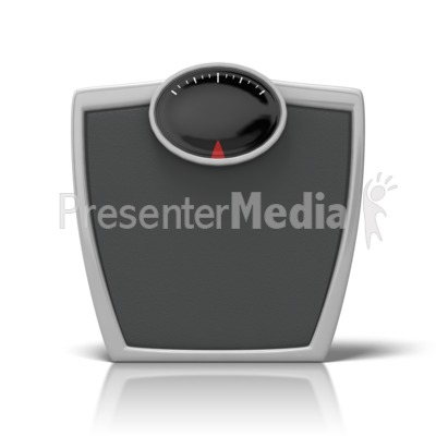 Bathroom Scale PowerPoint Clip Art