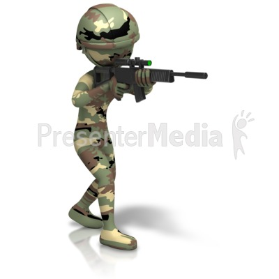 Presenter media powerpoint templates 3d animations and clipart id 11635 camo figure holding gun presentation clipart toneelgroepblik Choice Image