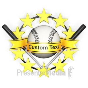 ID# 11640 - Custom Baseball Banner - Presentation Clipart