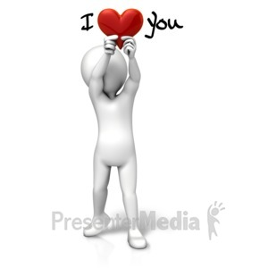 ID# 11643 - Holding Heart I Love You - Presentation Clipart
