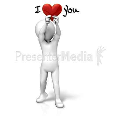 Holding Heart I Love You PowerPoint Clip Art