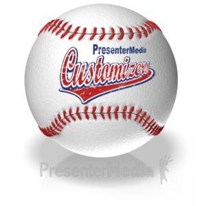 ID# 11651 - Baseball Text - Presentation Clipart