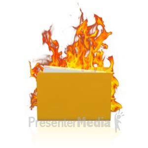 ID# 11664 - Folder Data Fire - Presentation Clipart