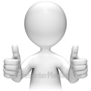 ID# 11665 - Two Thumbs Up - Presentation Clipart