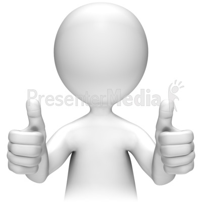 Two Thumbs Up PowerPoint Clip Art