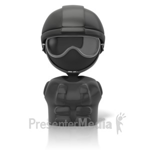 ID# 11668 - Swat Figure Icon - Presentation Clipart