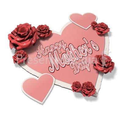Pink Heart Text PowerPoint Clip Art