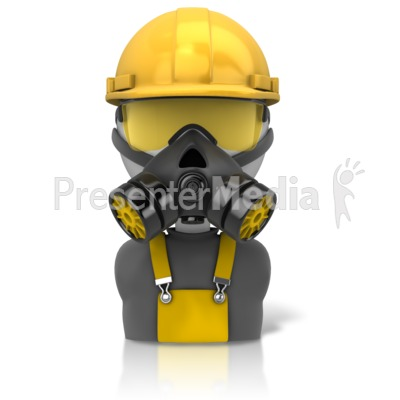 Construction Safety Figure Icon PowerPoint Clip Art